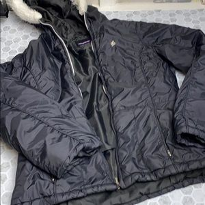 South Pole Medium Black Winter Coat Fur Hood